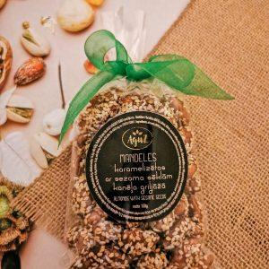 Mandeles kanēļa griljāžā ar sezamu maisiņā (150g)