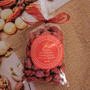 Mandeles griljāžā zemeņu apvalkā maisiņā (150g)